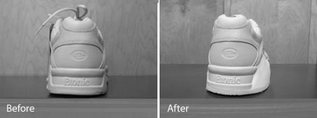 Modified footwear from Walking Mobility Clinics