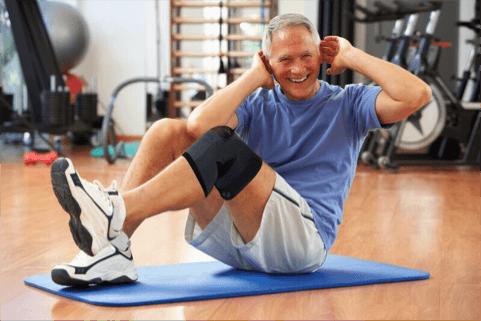 Compression brace for knee